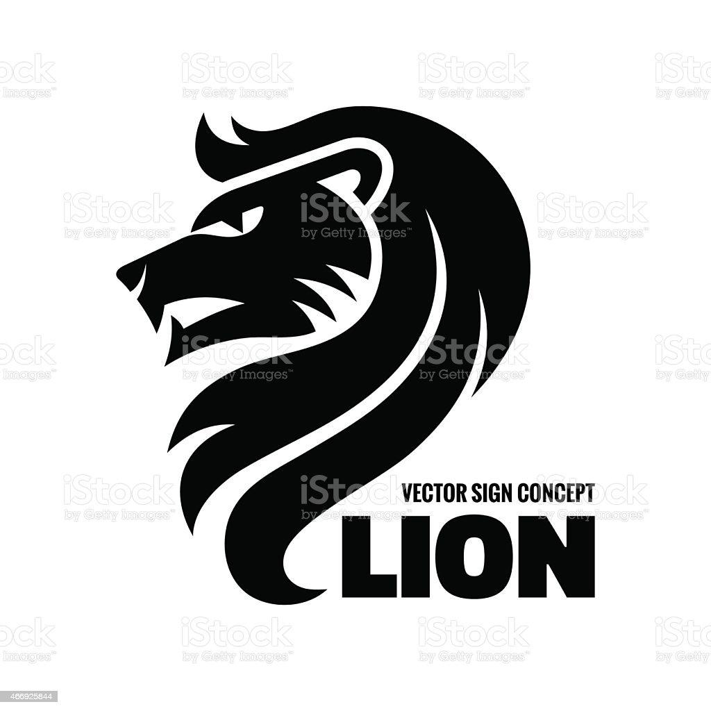 Animal lion - vector logo concept illustration. Lion head sign illustration. vector art illustration