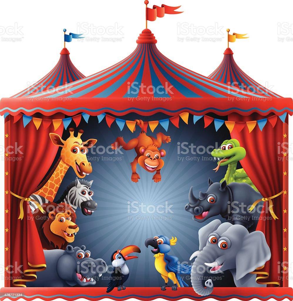 Animal Magic Circus vector art illustration