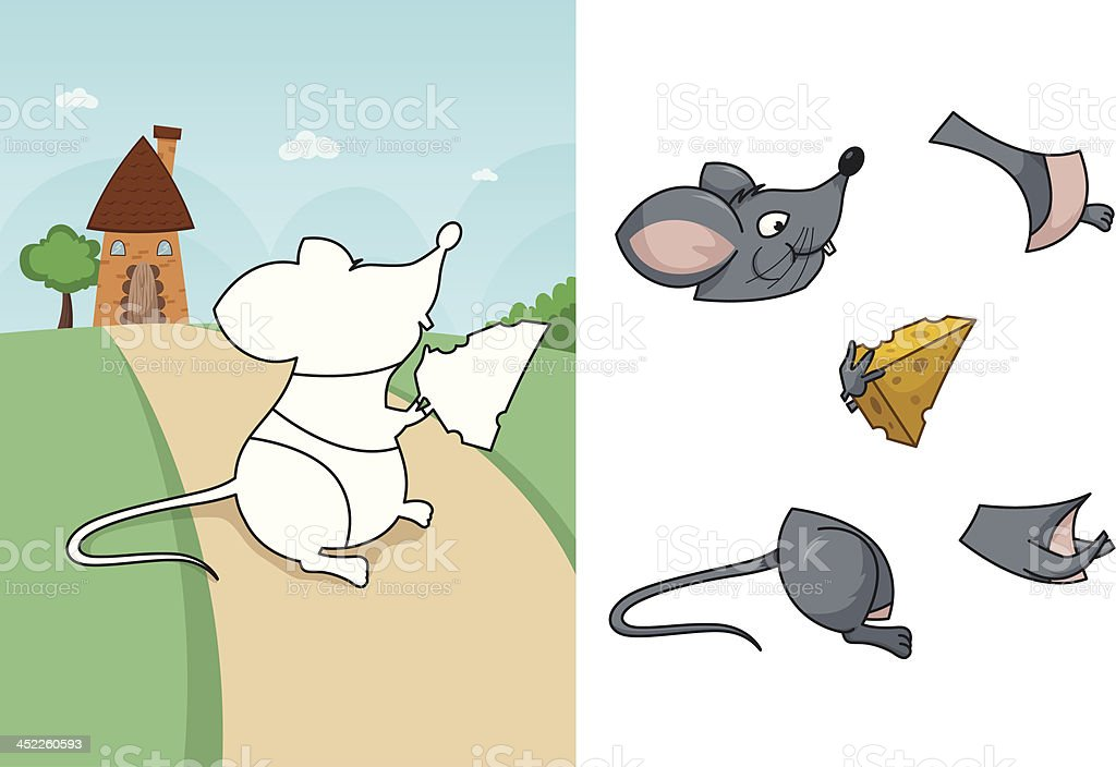 Animal mouse puzzle royalty-free stock vector art