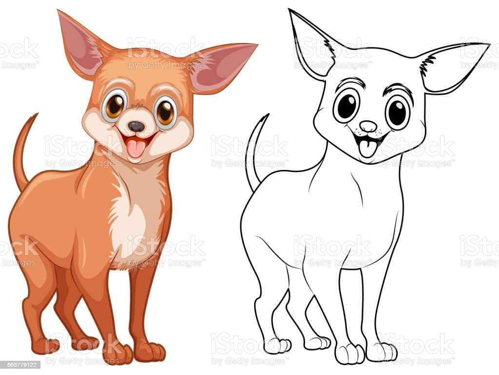 animal outline for chiwawa dog stock vector art 665779122 istock