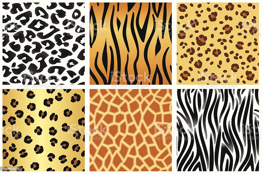 Animal patterns royalty-free stock vector art