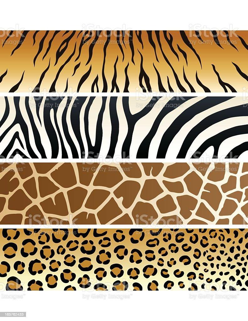 Animal Print   Banners vector art illustration