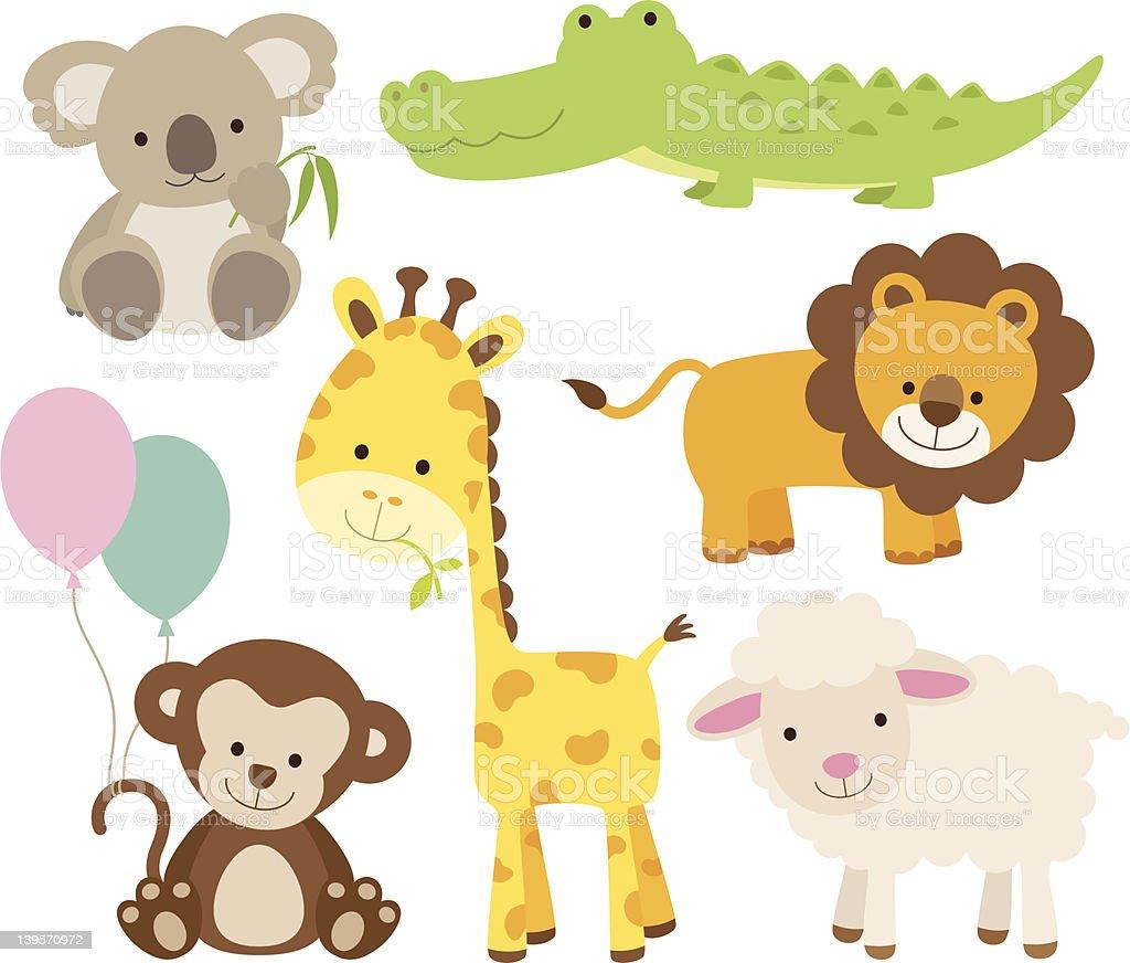 Animal Set vector art illustration