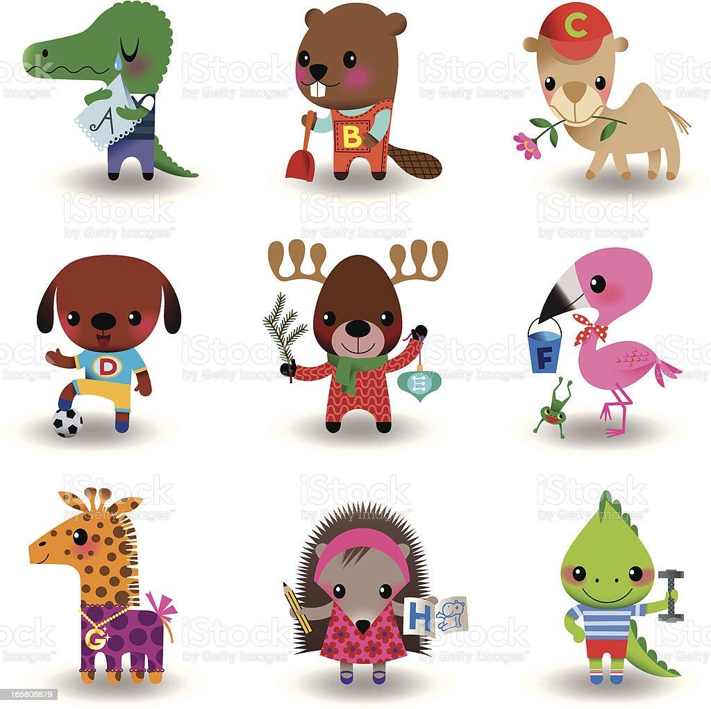 Animal Set royalty-free stock vector art