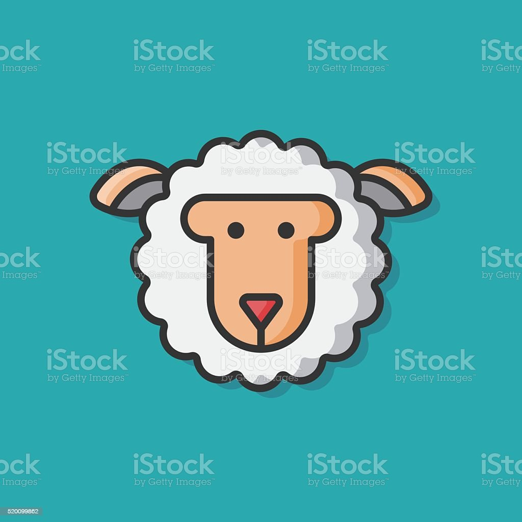 animal sheep vector icon vector art illustration