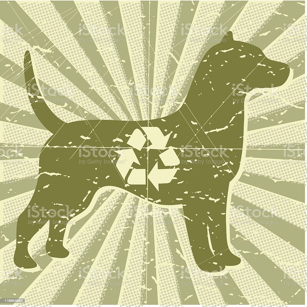 Animal Shelter Dog vector art illustration