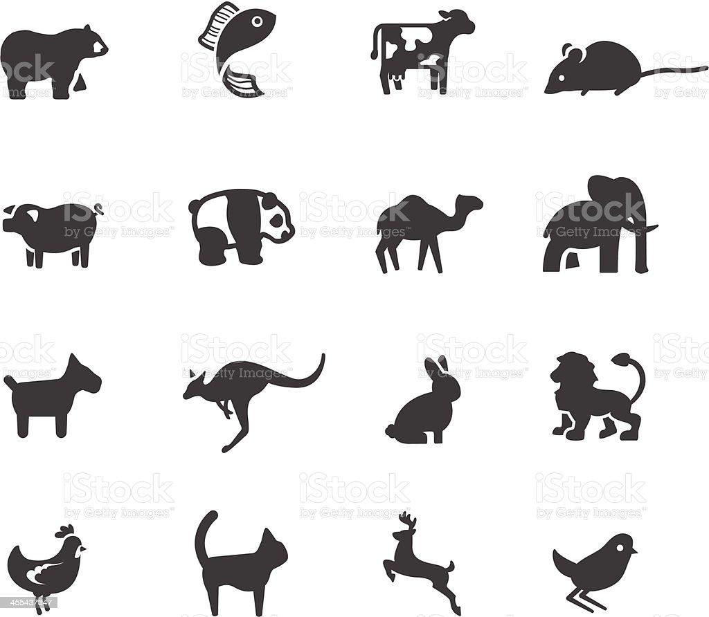 Animal Symbols vector art illustration