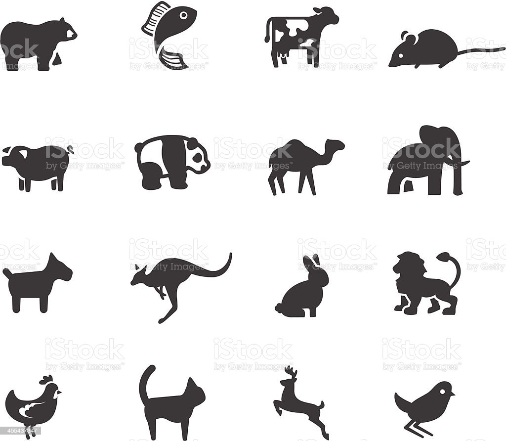 Animal Symbols vector art illustration