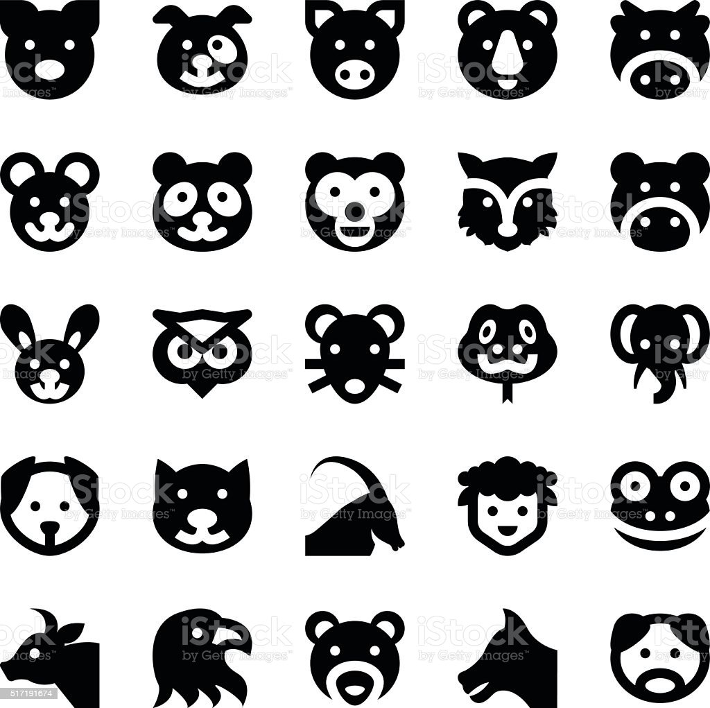 Animals and Birds Vector Icons 1 vector art illustration