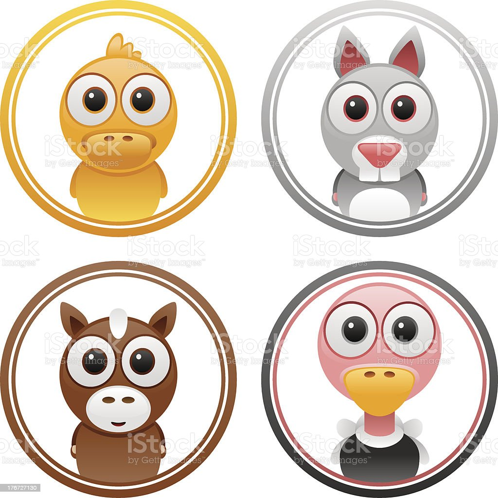 animals badge set 2 royalty-free stock vector art