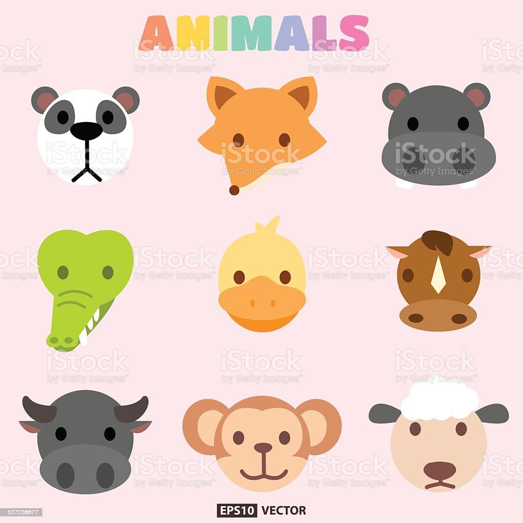 Animals head royalty-free stock vector art