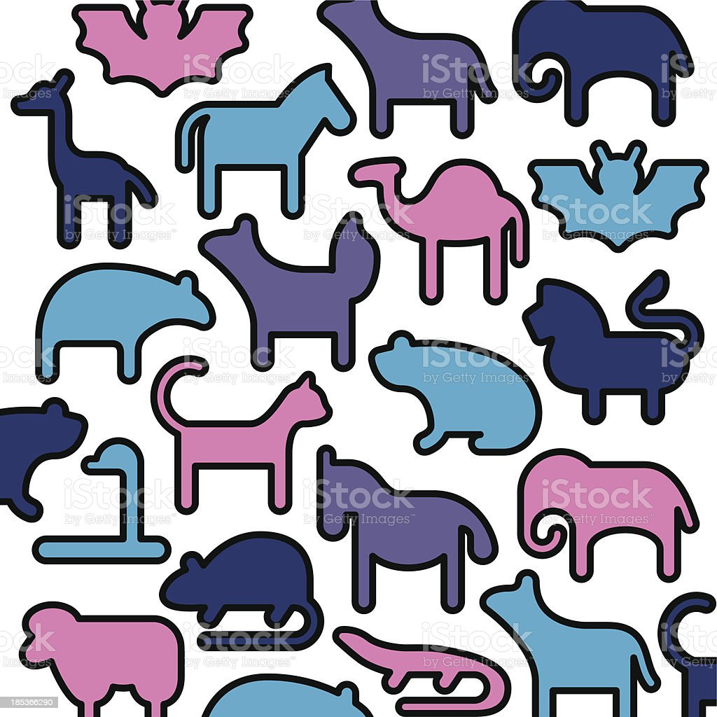 Animals Icons - Color Series royalty-free stock vector art