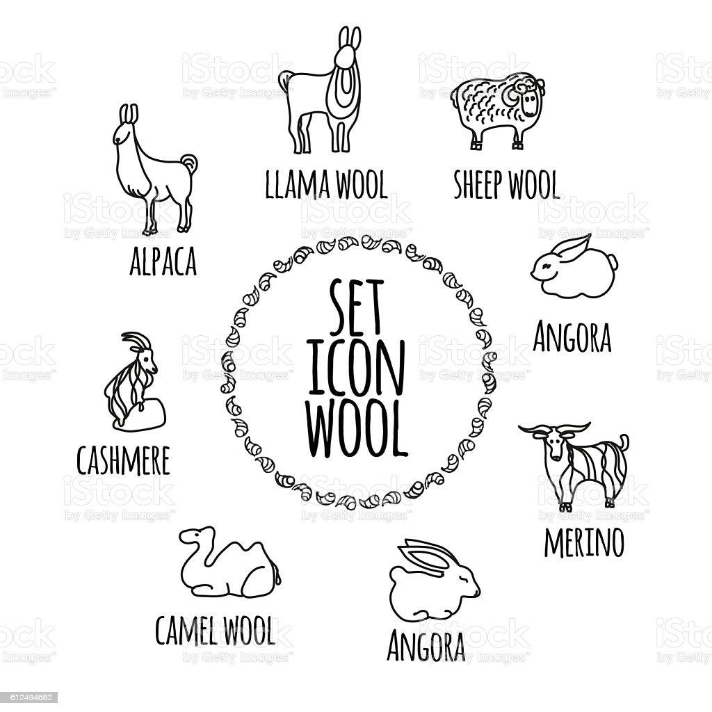 Animals. Icons vector. vector art illustration