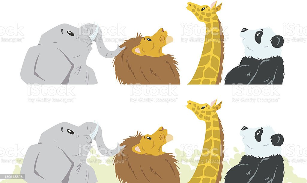 Animals looking up royalty-free stock vector art
