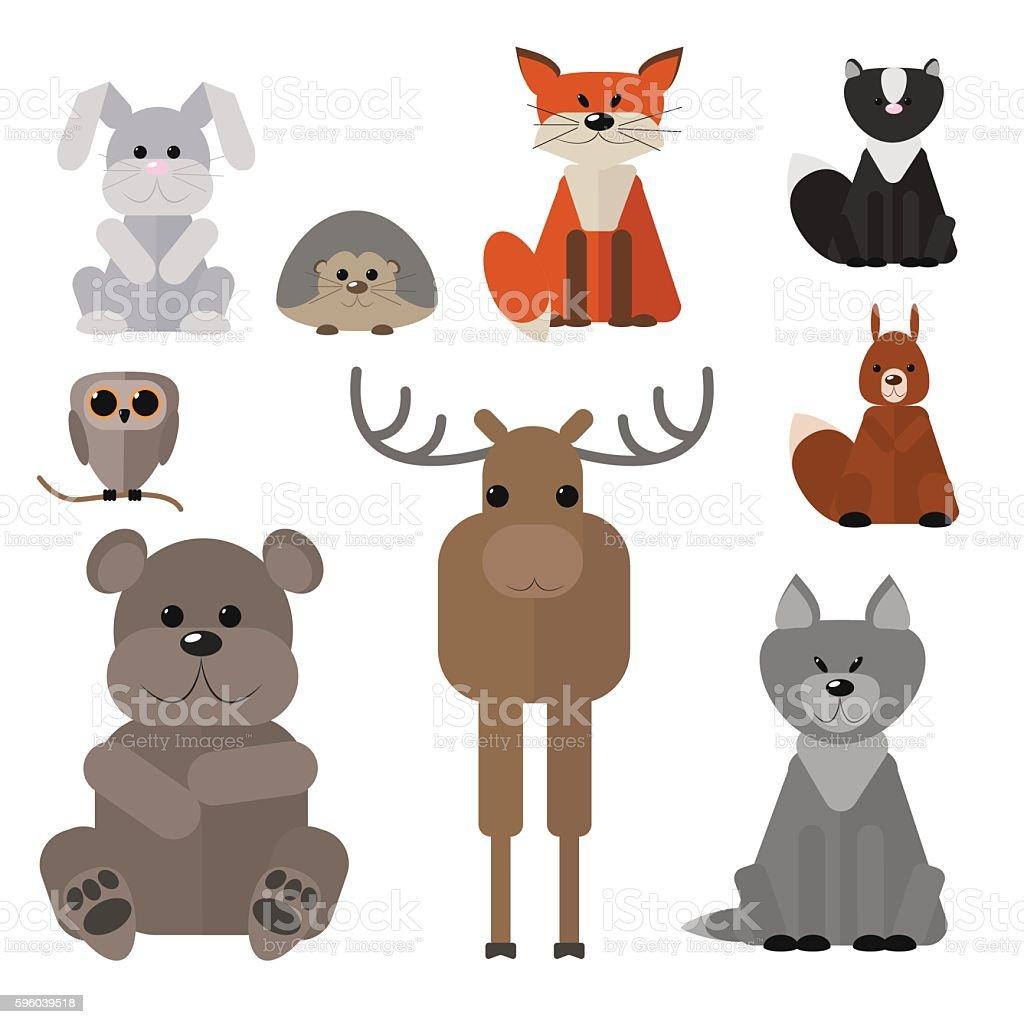 animals of the forest set wild animals のイラスト素材 596039518 istock