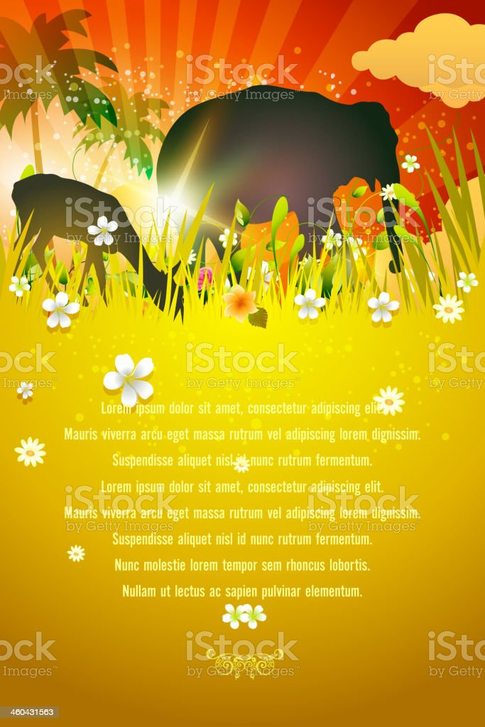 Animals Safari Background royalty-free stock vector art