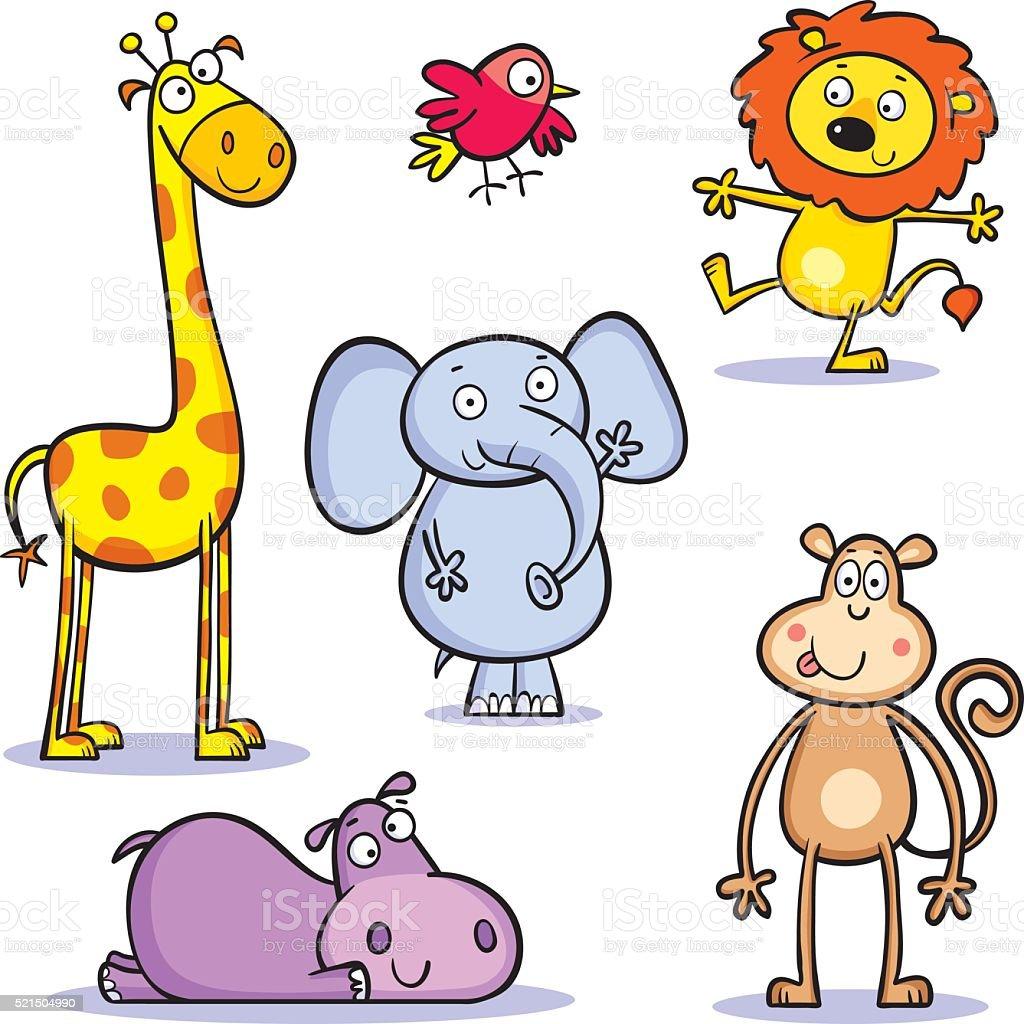 animals vector art illustration