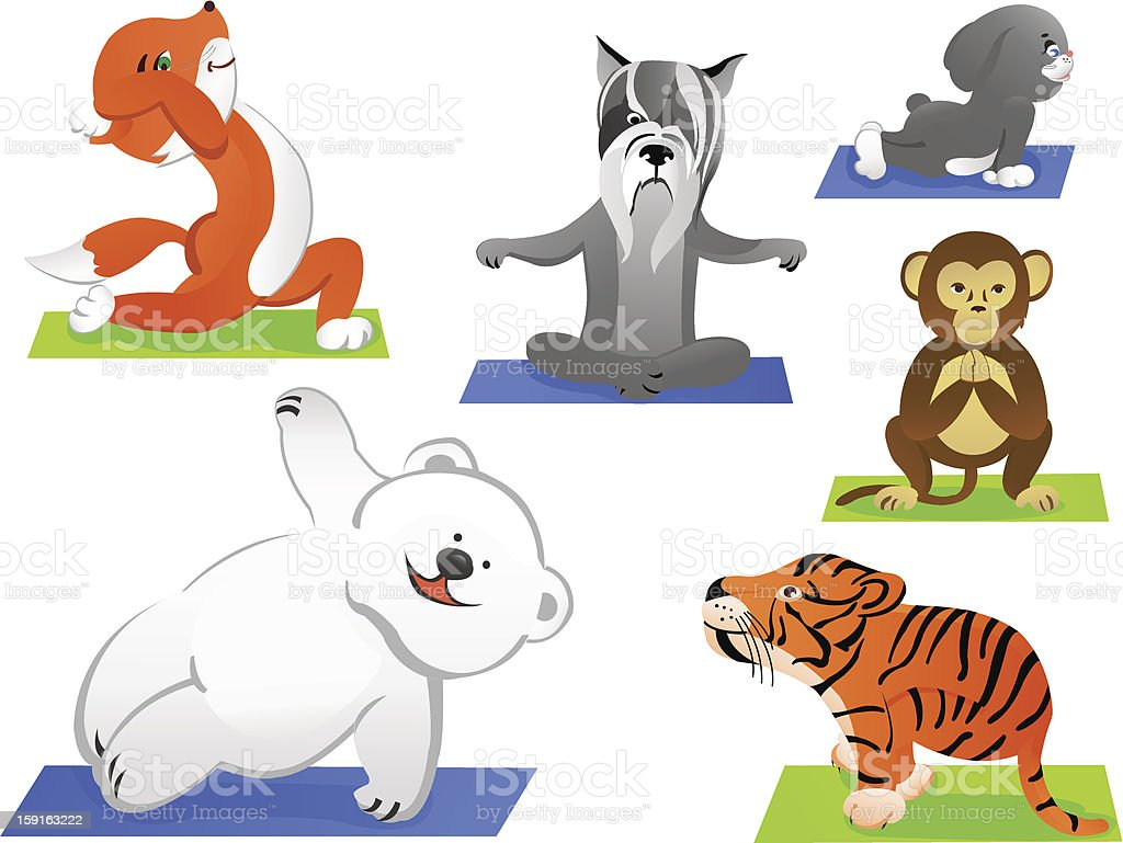 Animals yoga royalty-free stock photo