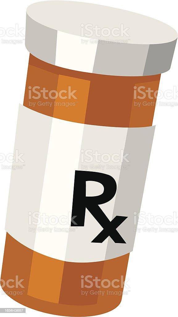 Animated illustration of a prescription bottle on white royalty-free stock vector art