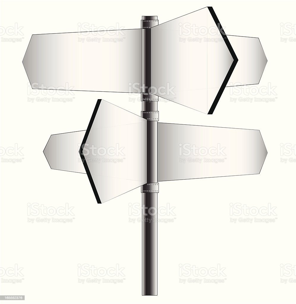 animated road signs with no description royalty-free stock vector art