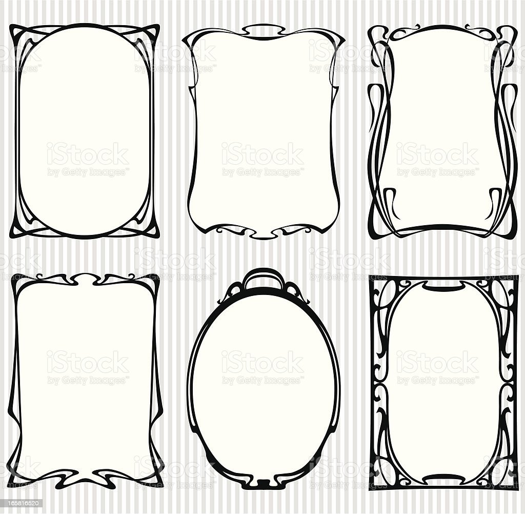 Animated sets of vintage frames royalty-free stock vector art