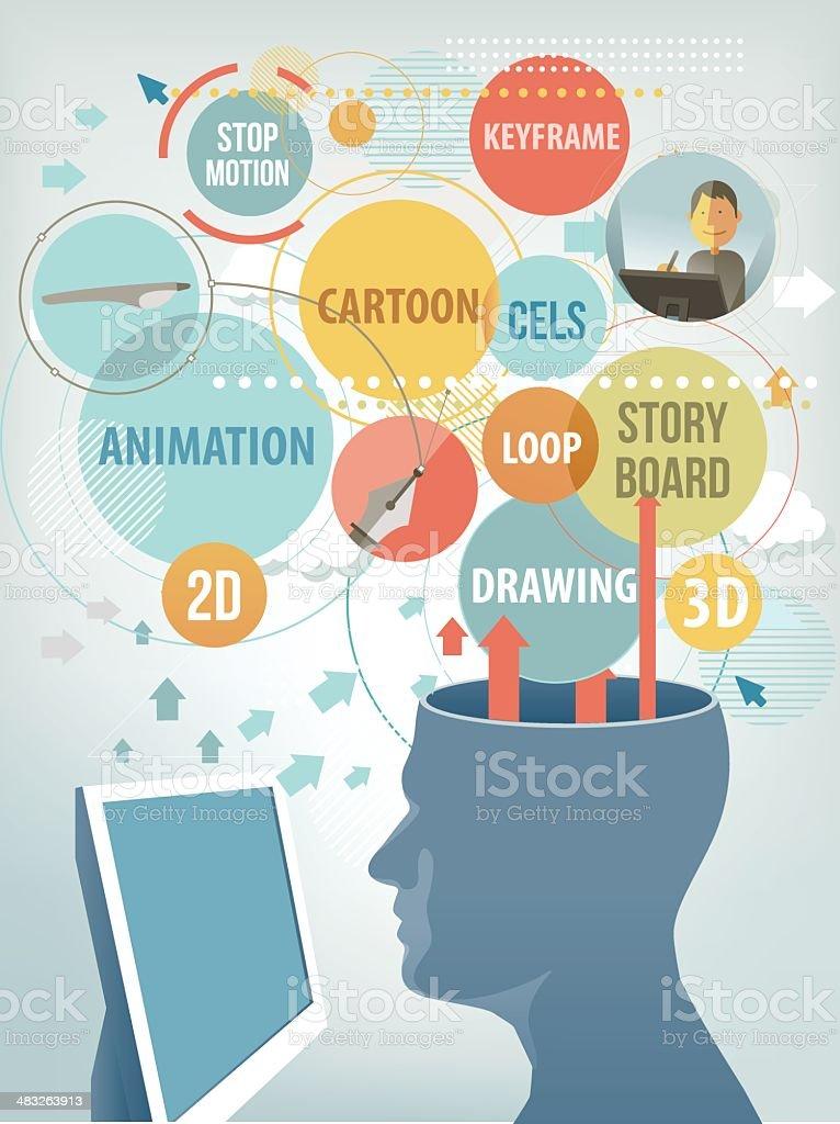 Animator royalty-free stock vector art