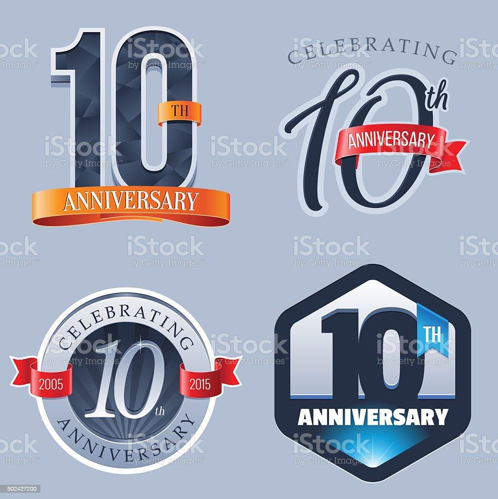 Anniversary - 10 Years vector art illustration