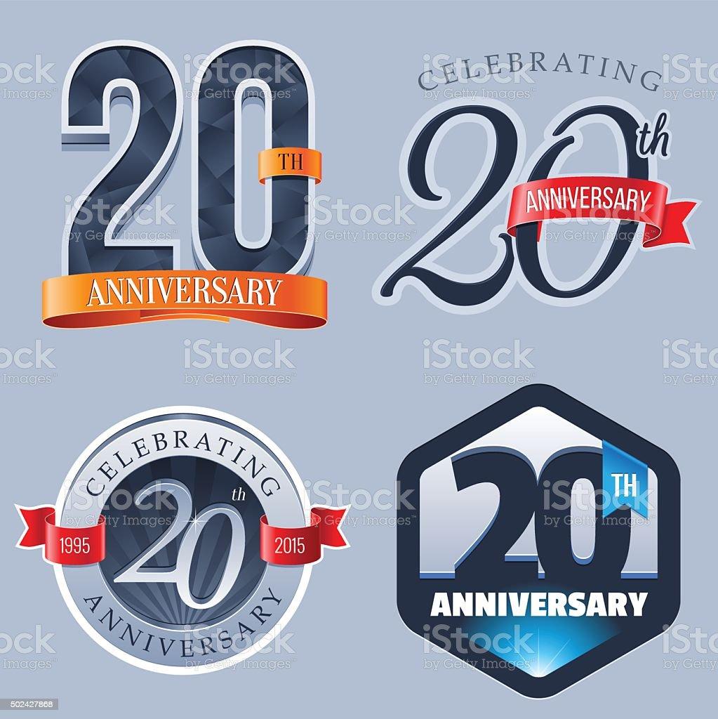 Anniversary - 20 Years vector art illustration