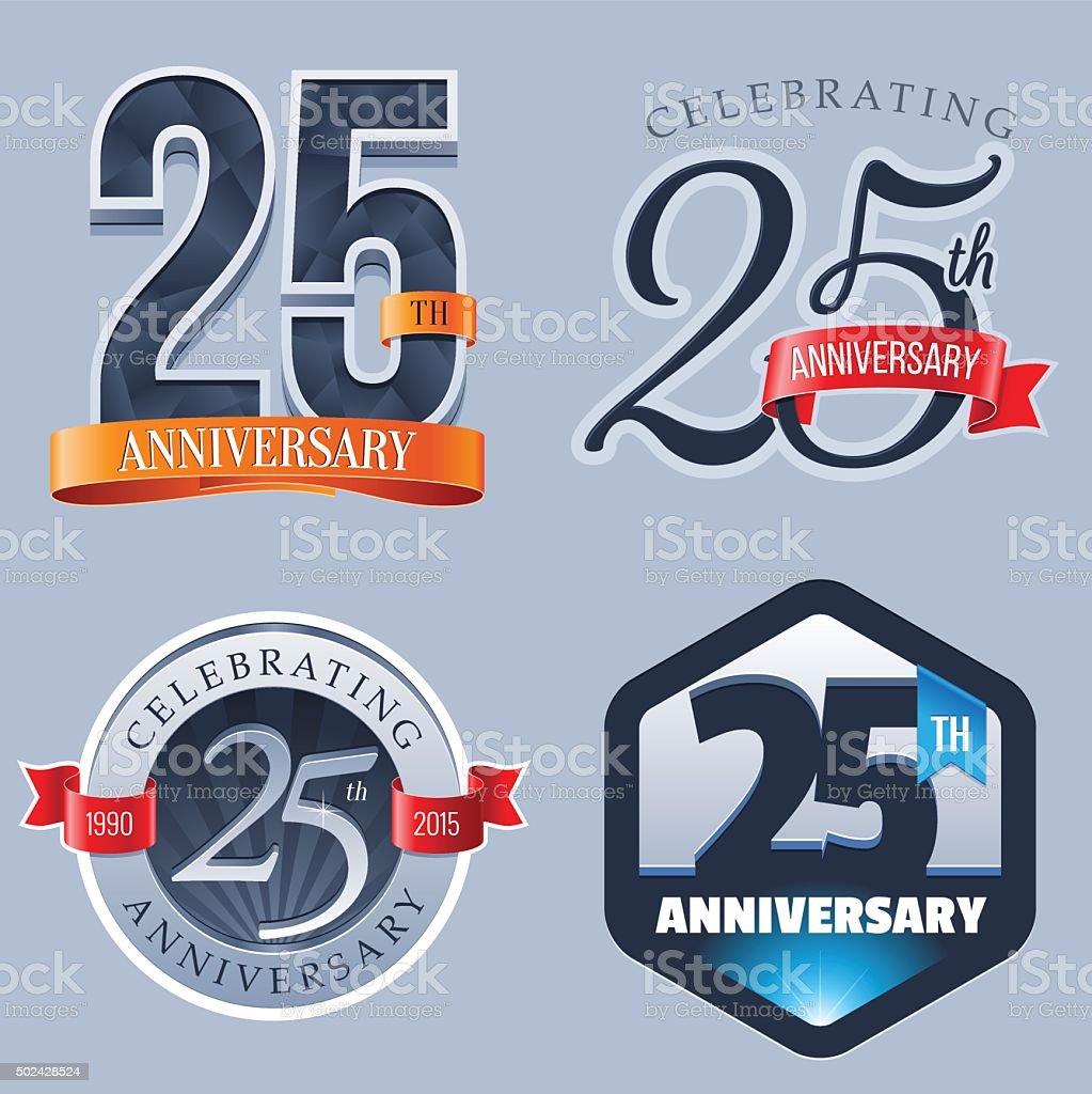 Anniversary  25 Years vector art illustration