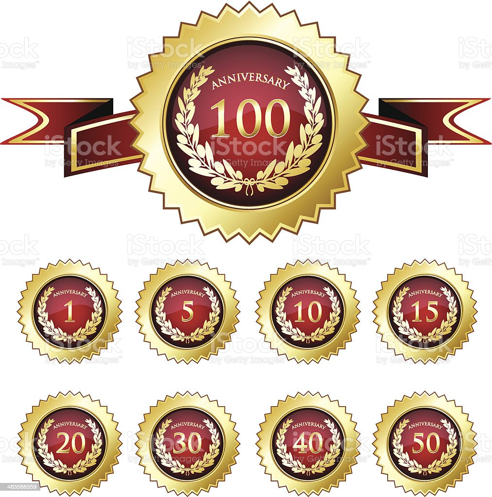 Anniversary Badge Collection royalty-free stock vector art