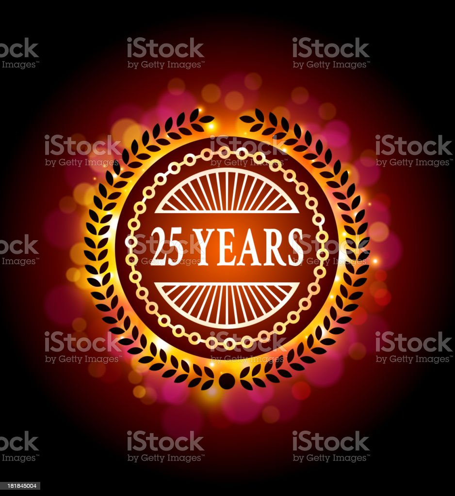 Anniversary Badges royalty-free stock vector art