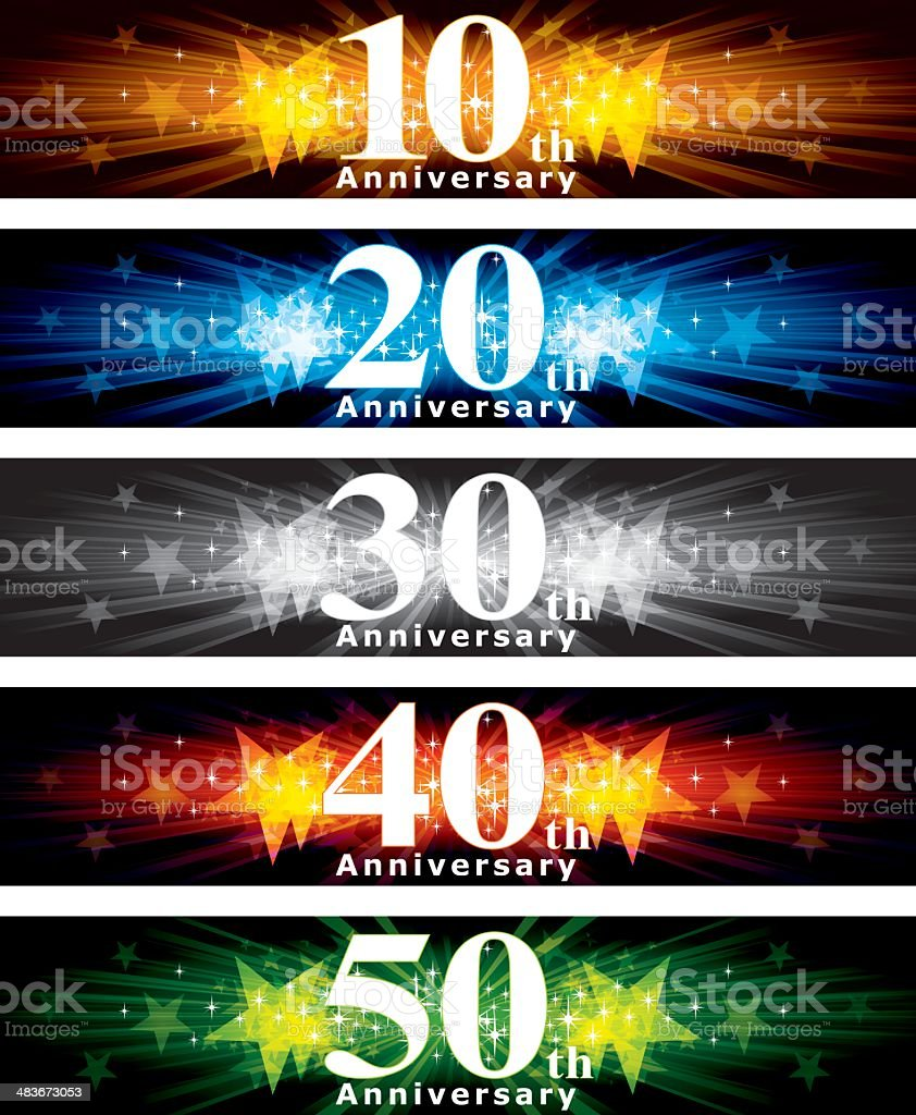 Anniversary Banner royalty-free stock vector art