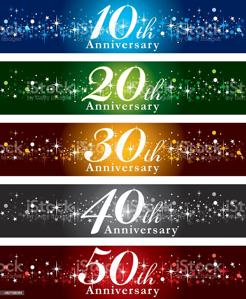 Anniversary Banners vector art illustration