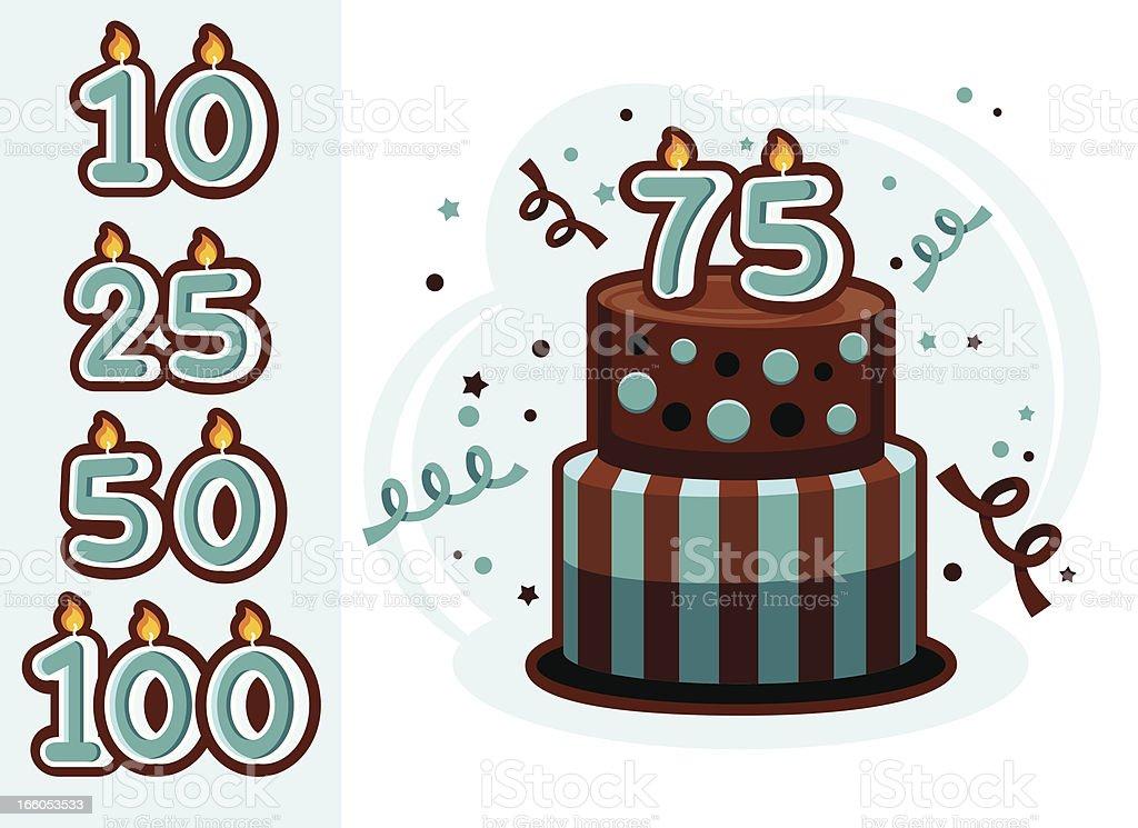 Anniversary Cake royalty-free stock vector art