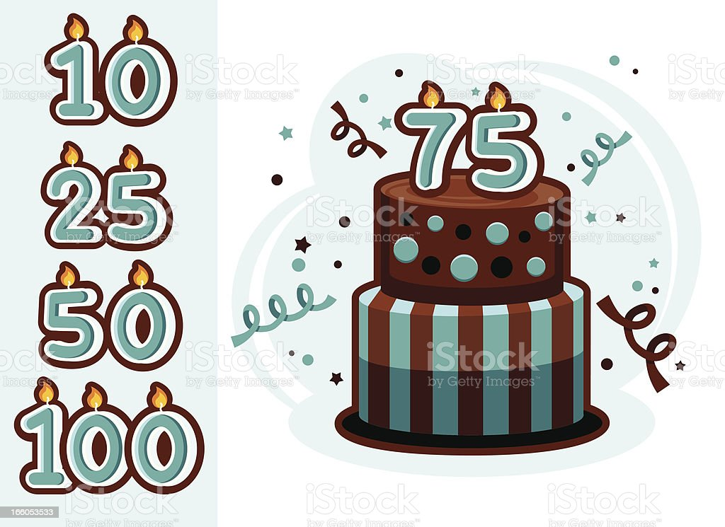 Anniversary Cake vector art illustration