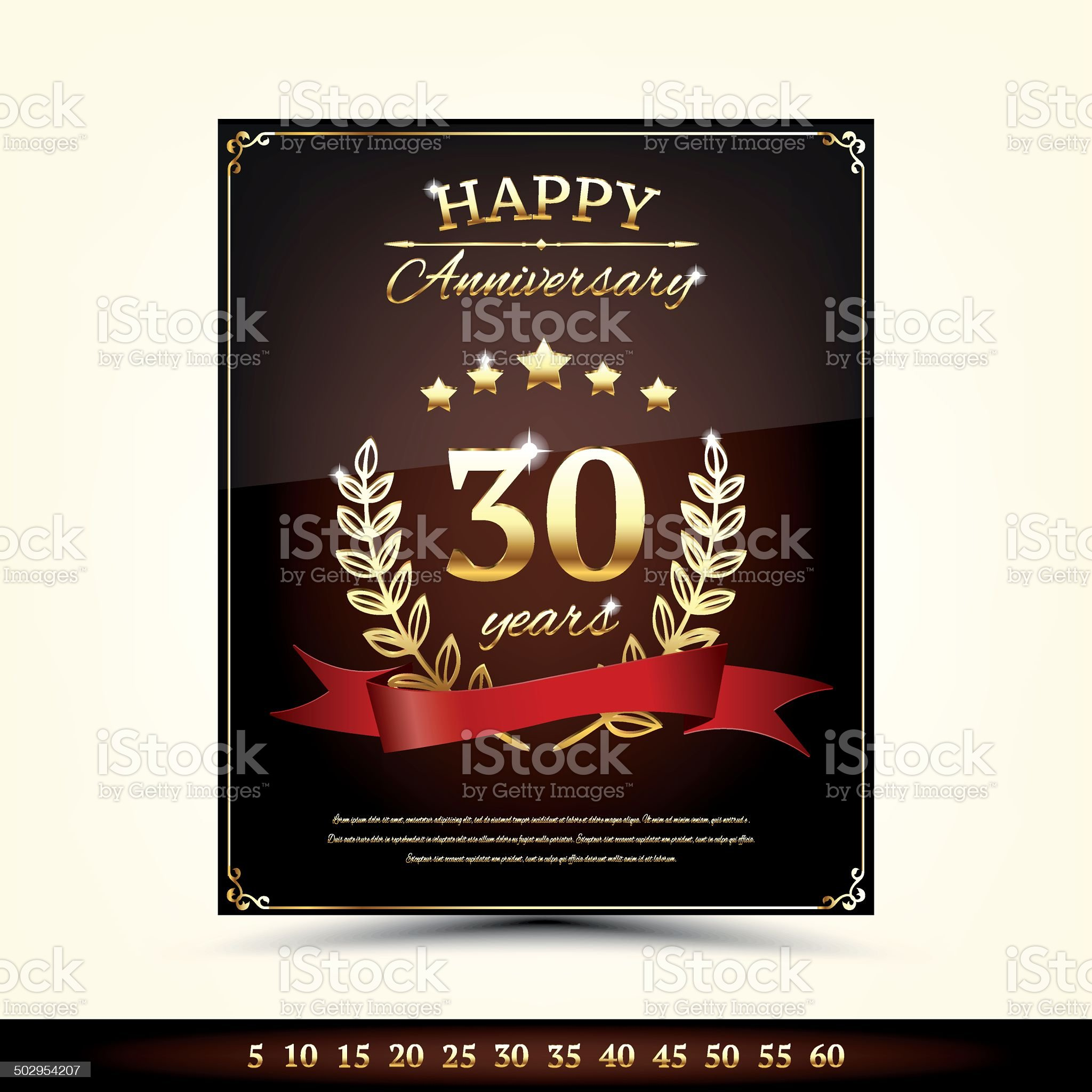 Anniversary card template royalty-free stock vector art