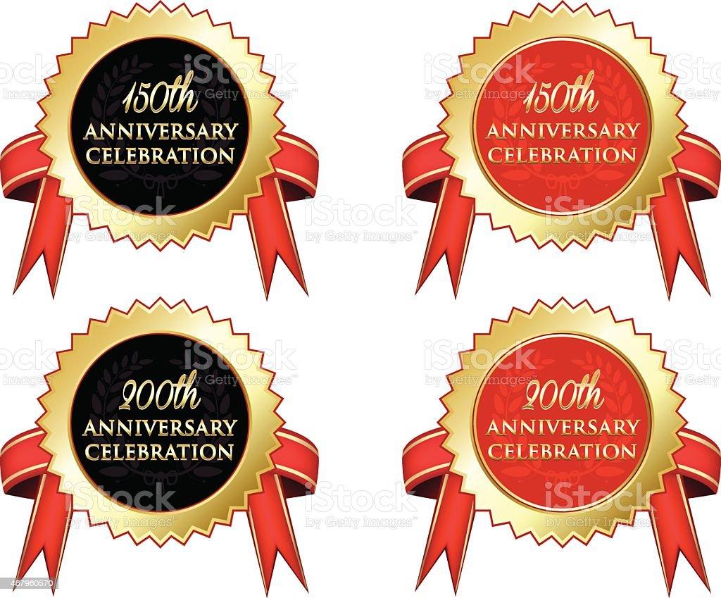 Anniversary Celebration vector art illustration