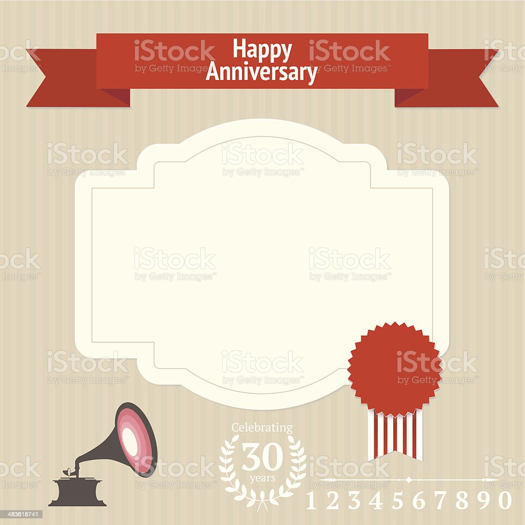 Anniversary design elements royalty-free stock vector art