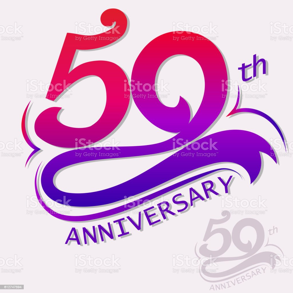 Anniversary Design, Template celebration sign vector art illustration