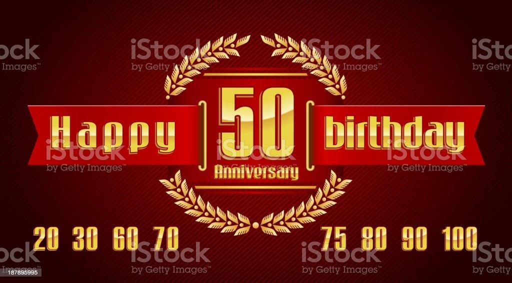 Anniversary emblem royalty-free stock vector art