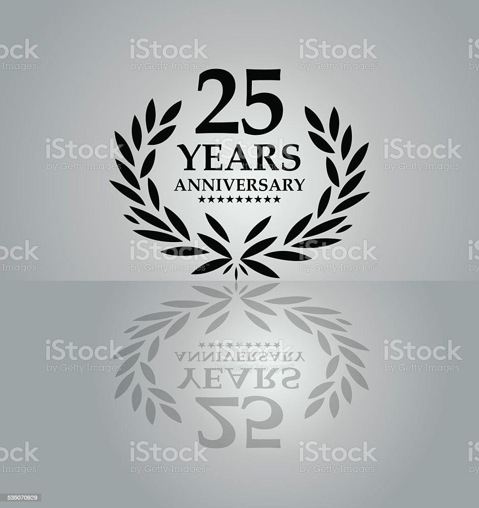 Anniversary emblem vector art illustration