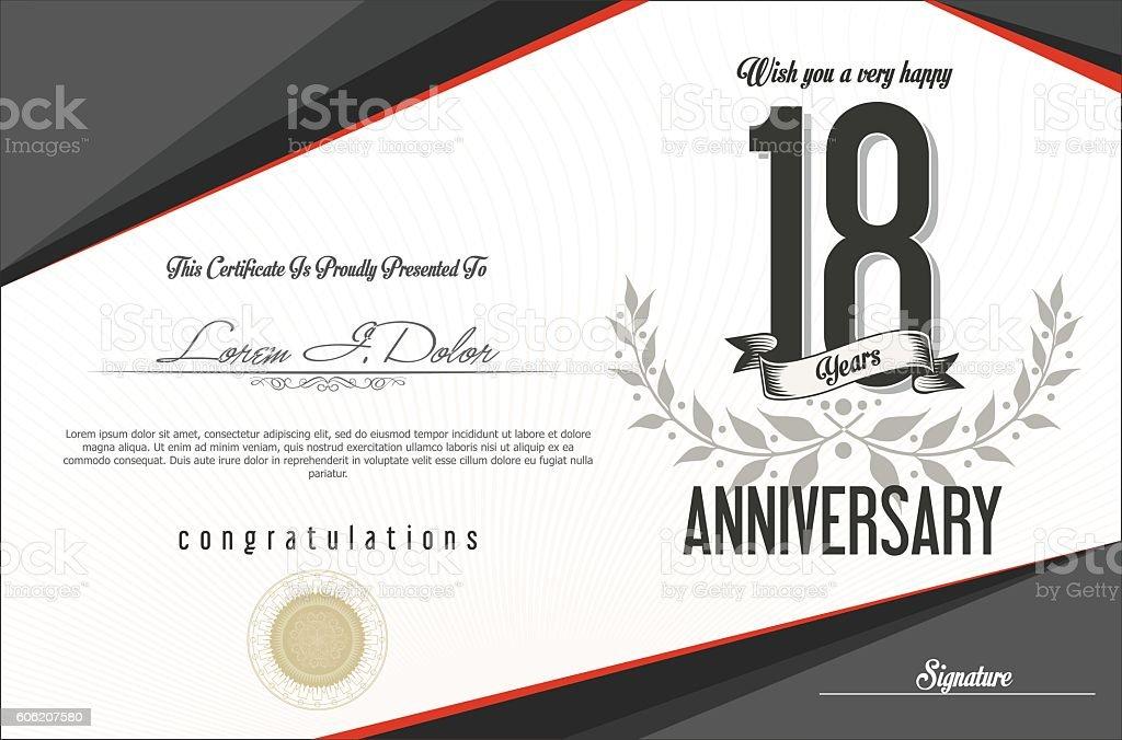 Anniversary golden retro vintage labels collection vector art illustration