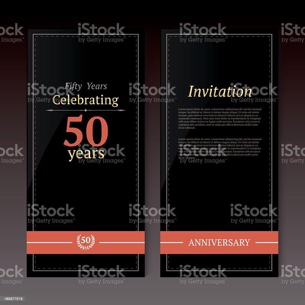 Anniversary invitation card vector art illustration