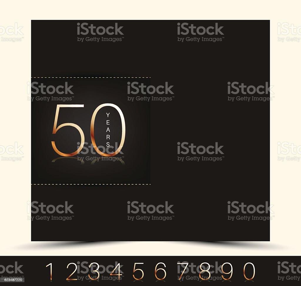 Anniversary invitation/greeting card. vector art illustration