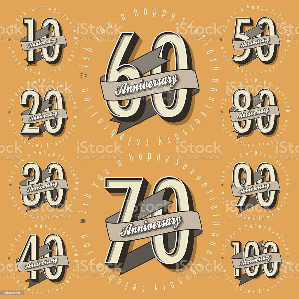Anniversary royalty-free stock vector art