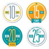 Annivesary Badge Symbols and Decorative Design Elements