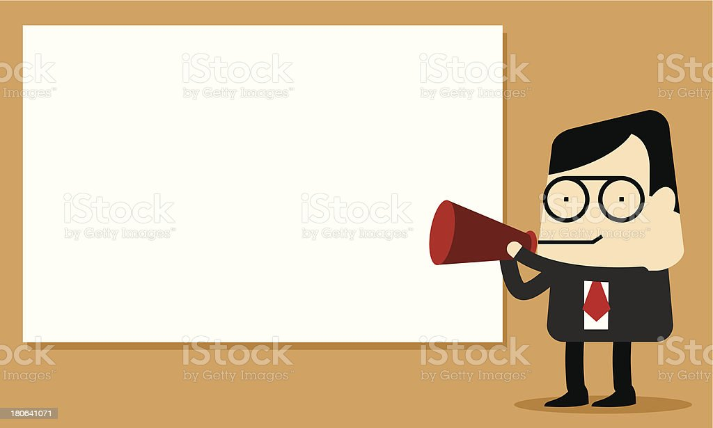 Announcement Boss royalty-free stock vector art