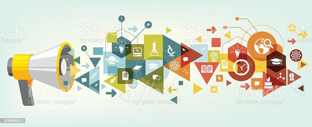 Announcement of education vector art illustration