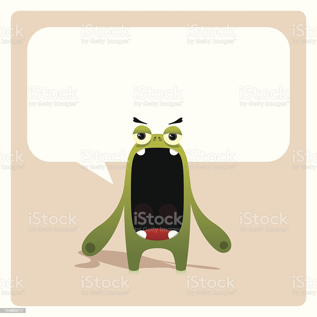 Annoying Character With Speech Bubble royalty-free stock vector art