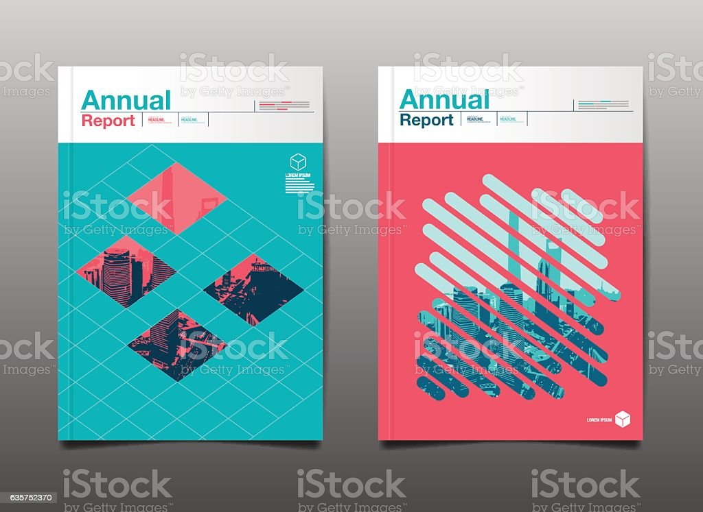 annual report 2017,2018,2019, template layout design vector art illustration